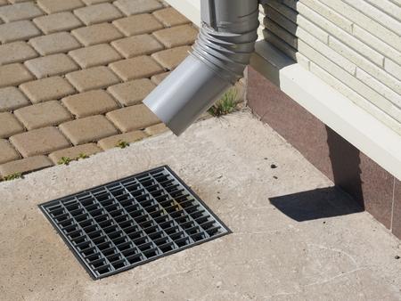 rainwater pipe in the house 免版税图像