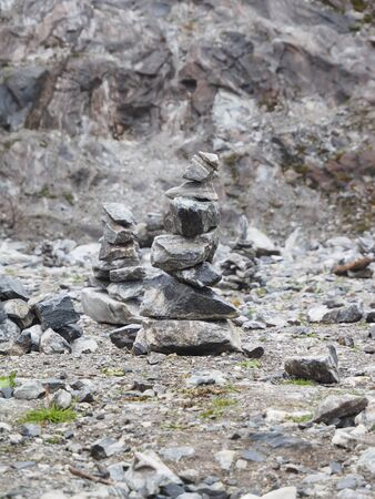 cairn: Cairn in mountain Stock Photo