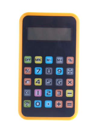 compute: colorful calculator on a white background