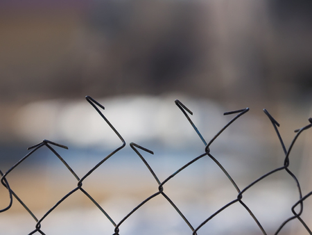enclose: wire mesh fence Stock Photo