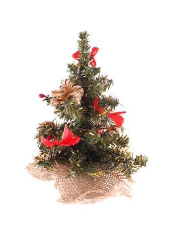 fake christmas tree: Christmas tree on a white background Stock Photo