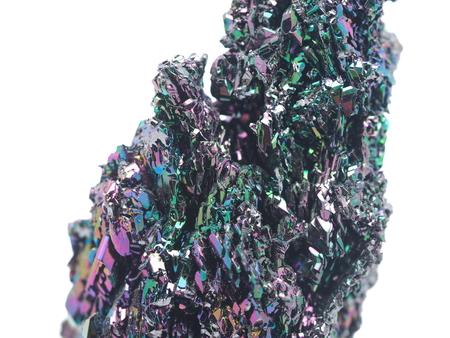 scoria: volcanic rock on a white background Stock Photo
