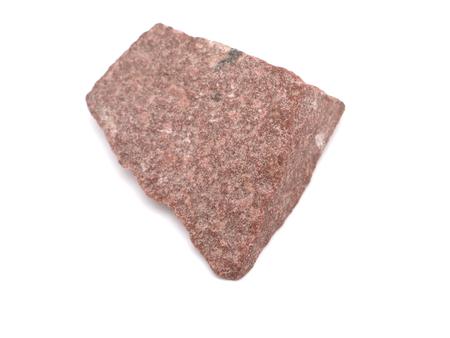 stockpile: quartzitic sandstone crimson on a white background