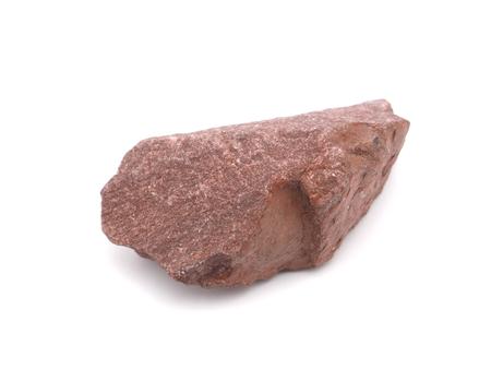 macadam: quartzitic sandstone crimson on a white background