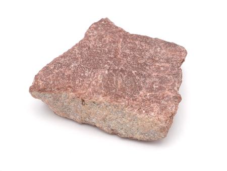 quartzitic sandstone crimson on a white background