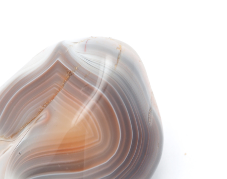agate on a white background