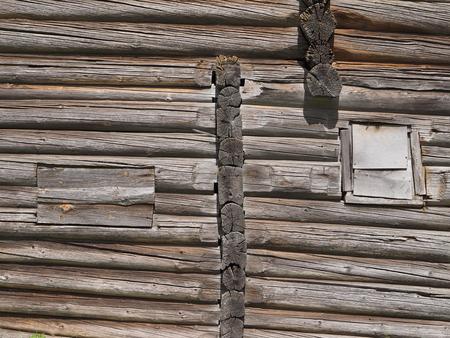 log house: old log house fragment