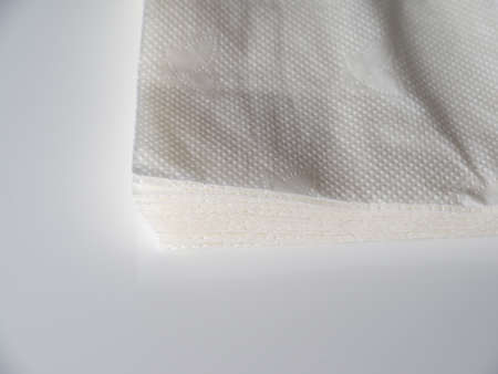 absorbent: table napkins on a gray background Stock Photo