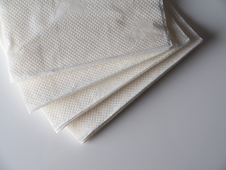 napkins: table napkins on a gray background Stock Photo