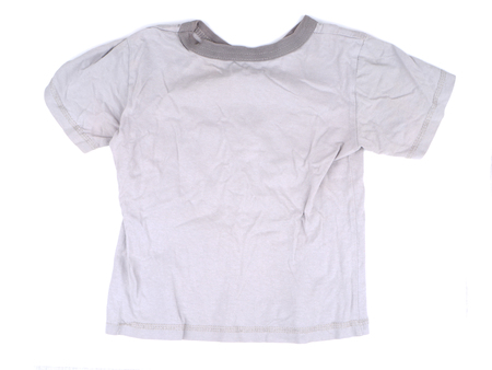 baby isolated: Childrens T-shirt on a white background