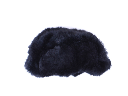 flaps: fur hat ear flaps on the white background