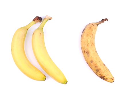 jhy: bananas on white background Stock Photo