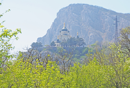 dome of the rock: Foros Church in Crimea Stock Photo