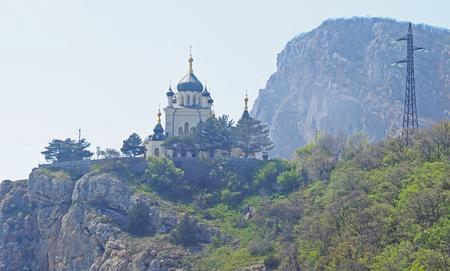 eminence: Foros Church in Crimea Stock Photo