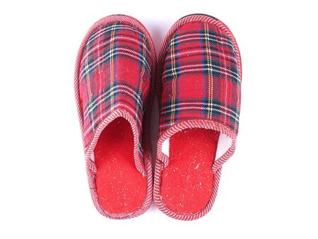 slippers on a white background