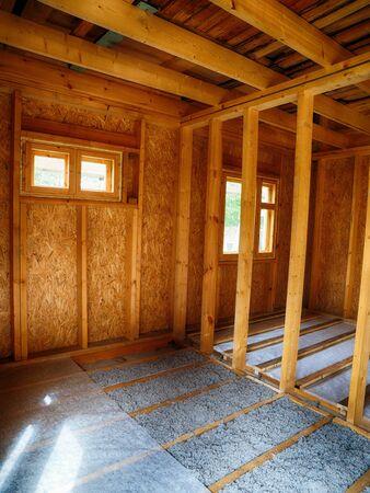 Flooring in frame house Фото со стока