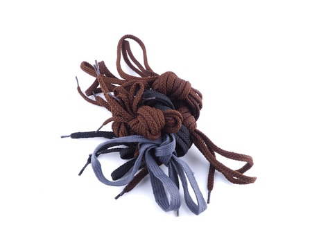 shoelaces for shoes on a white background