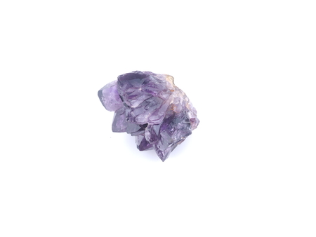 amethyst on white background Banque d'images