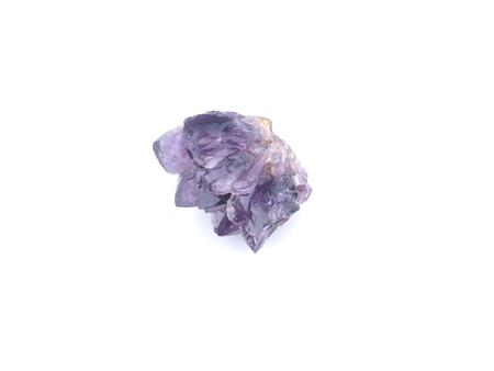 amethyst on white background Reklamní fotografie