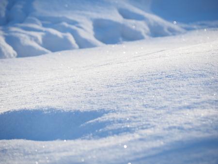 white snow in winter Banco de Imagens - 118552570