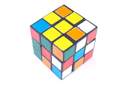 rubik's cube on a white background