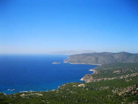 seaboard: Coast of Rhodes. Stock Photo