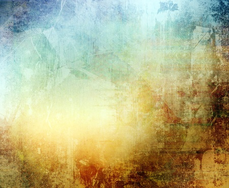 creation: Grunge color texture, blue and brown color