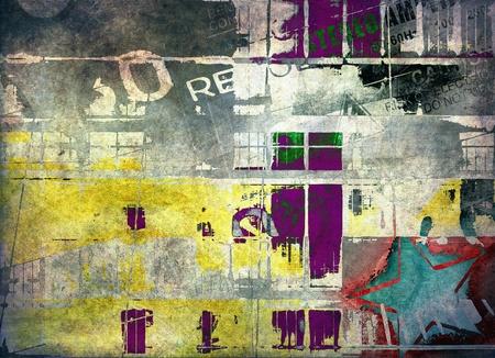 grafiti: Streszczenie tle grunge