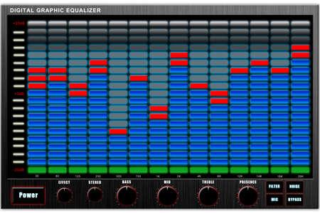 Graphic electronic equalizer isolated on white background, illustration illustration