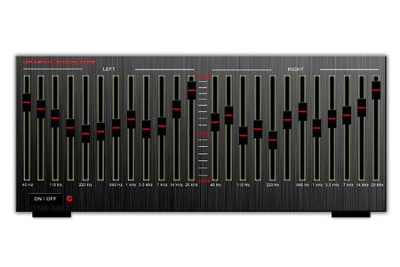 hi fi system: Vintage graphic equalizer isolated on white background