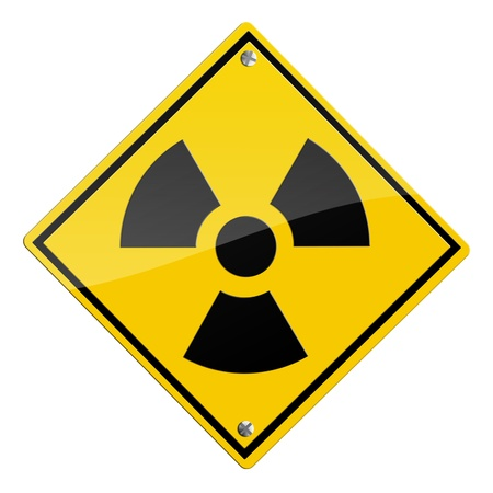 Nuclear, radioactive sign isolated on white background Stock Photo - 9885895