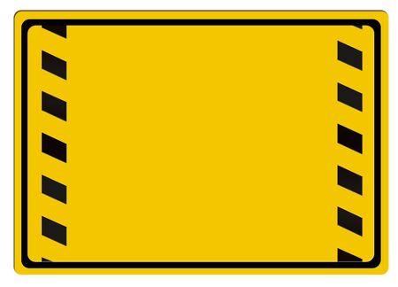 Warning sign isolated on white background photo