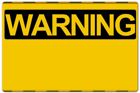 not working: Warning sign isolated on white