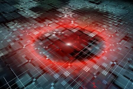 grid: Sfondo tecnologia astratta