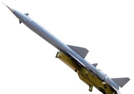 Rocket installation isolated on white background photo