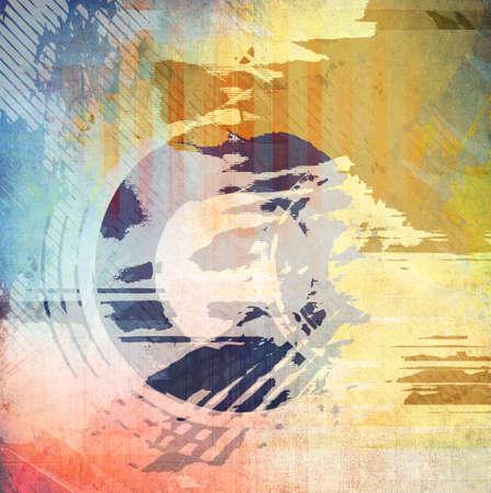Grunge color illustration, background Stock Illustration - 9997350