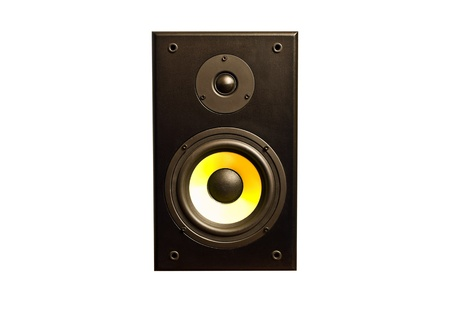Speaker isolated on white photo