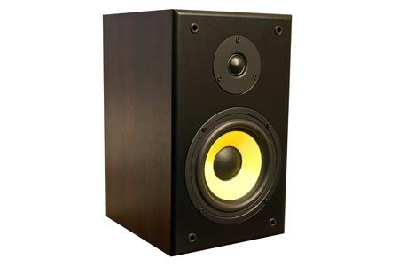 sub woofer: Speaker isolated on white Stock Photo