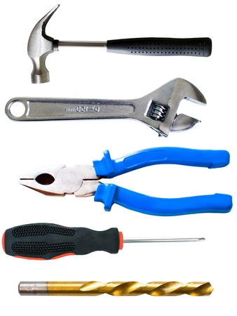 Tools set isolated on white background Stock Photo - 9886175