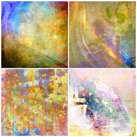 Grunge color backgrounds set, collection photo