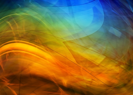 blast: Abstract colorful waves background