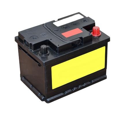 bateria: Bater�a del coche aislado sobre fondo blanco