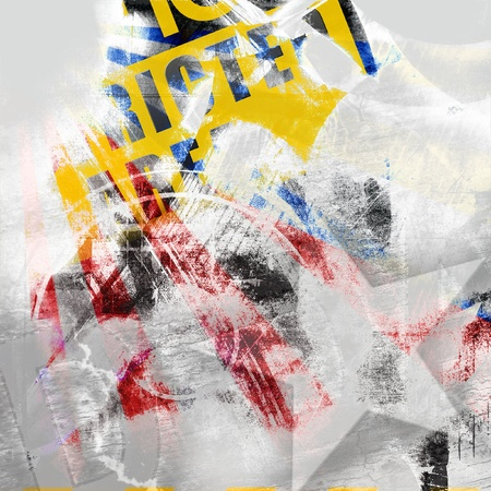 Abstract color grunge texture, yellow and red color photo