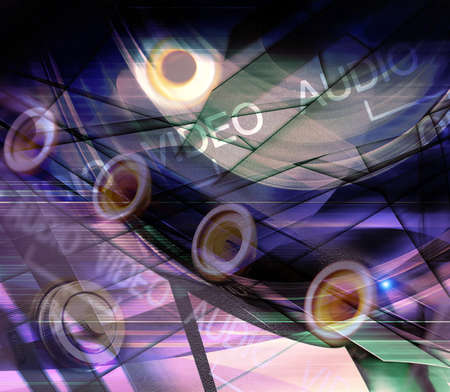 Abstract technology background Stock Photo - 9977608
