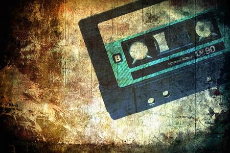 Grunge musical background Stock Photo - 9977650