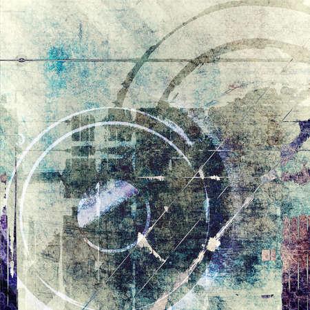 dark brown background: Grunge technology composition Stock Photo