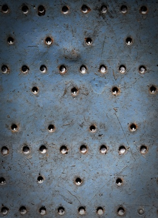 rusts: Metal texture with rivets, aircraft fuselage