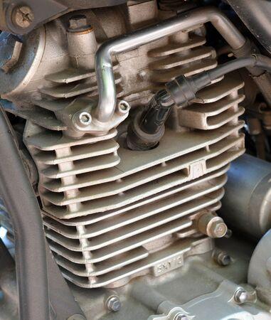 Motorcycle engine close up photo