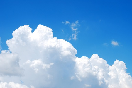 cumulus: Summer sky and clouds