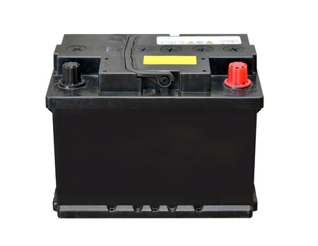 accumulator: Car battery isolated on white background